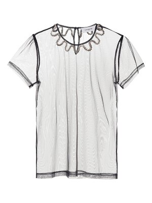 COACH Embellished tulle top