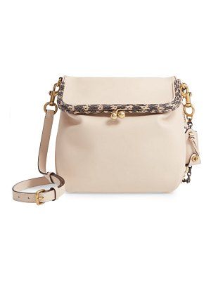 COACH exotic rider 24 genuine snakeskin trim shoulder bag