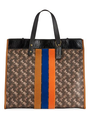 COACH Field 40 Horse & Carriage Print Coated Canvas Tote Bag