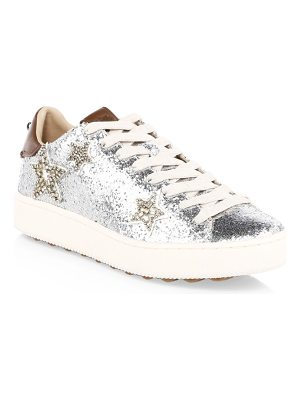 COACH glitter leather sneakers