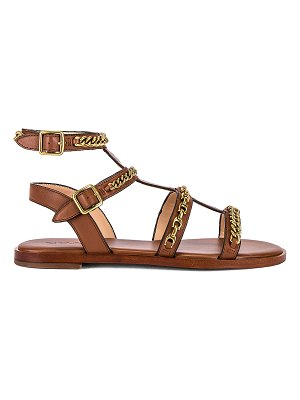 COACH haddie multi chains gladiator sandal