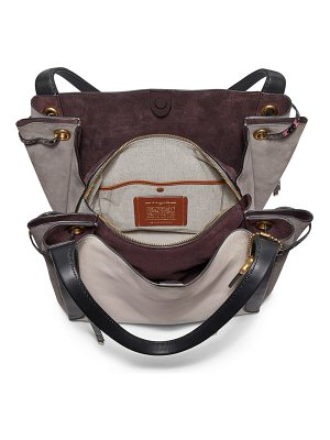 COACH harmony colorblock leather hobo bag with genuine python and snakeskin trim
