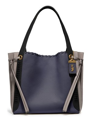 COACH harmony colorblock leather & suede hobo
