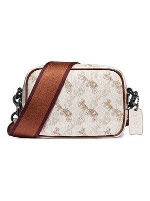 COACH horse & carriage coated canvas & leather camera bag