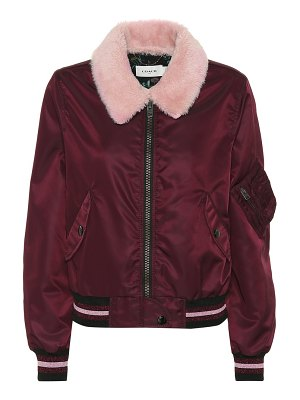 COACH Lamb fur collar bomber jacket