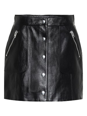 COACH Leather miniskirt