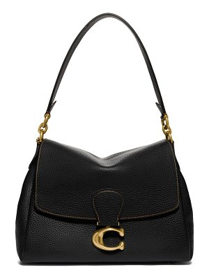 COACH may pebble leather shoulder bag