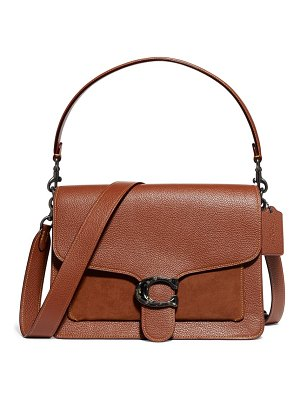 COACH mixed leather top handle bag