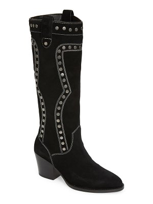 COACH payton knee high western boot