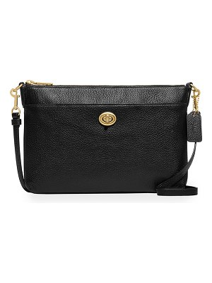 COACH Polly Pebbled Leather Crossbody Bag
