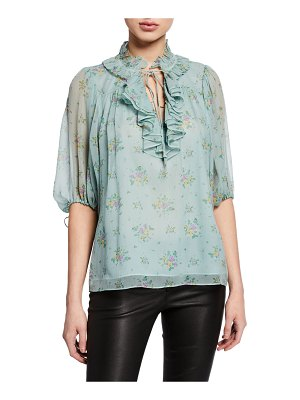 COACH Prairie Bouquet Printed Ruffle Top
