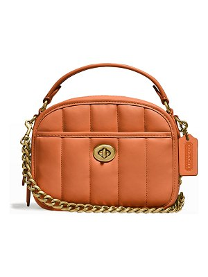 COACH Puffy Quilted Lunchbox Top-Handle Bag
