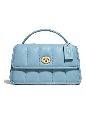 COACH Puffy Quilted Napa Top-Handle Bag