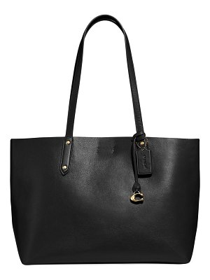 COACH Refined Calf Leather Tote Bag