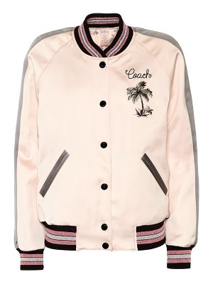 COACH Reversible satin bomber jacket
