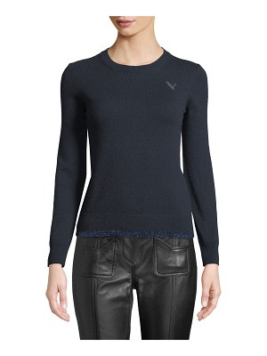 COACH Rexy Patch Metallic Wool-Cashmere Sweater