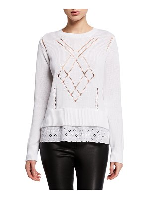 COACH Scalloped Broderie Anglaise Sweater
