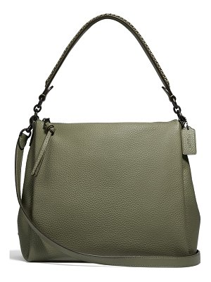 COACH shay whipstitch handle leather shoulder bag