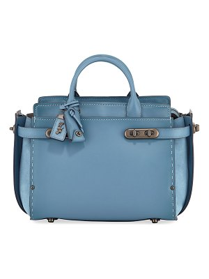COACH Swagger Mixed-Leather Satchel Bag