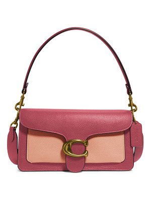 COACH tabby 26 colorblock leather shoulder bag