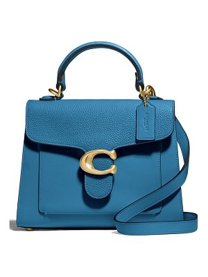 COACH tabby mixed leather top handle bag
