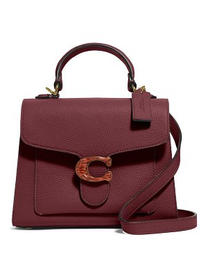 COACH tabby pebbled leather flap bag