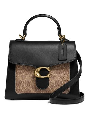 COACH tabby signature canvas & leather crossbody bag
