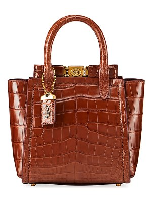 COACH Troupe Mini Alligator Tote Bag