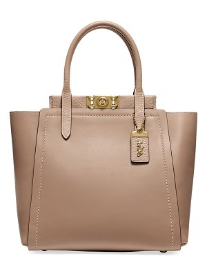 COACH Troupe Mixed Leather Tote Bag