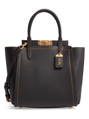 COACH troupe mixed leather tote