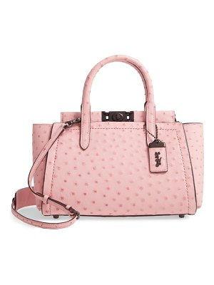 COACH troupe ostrich-embossed leather carryall satchel