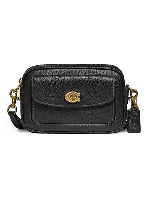 COACH Willow Pebbled Leather Camera Crossbody Bag