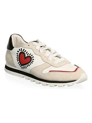 COACH keith haring runner heart sneakers