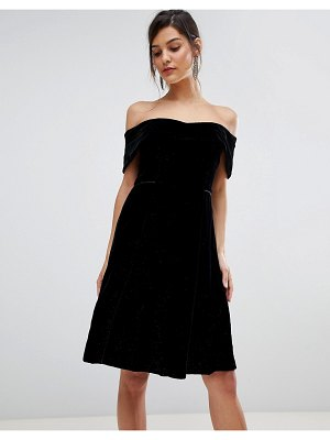 Coast emilia velvet bardot dress