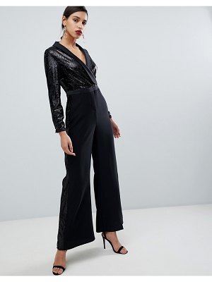 Coast minelli sequin tux jumpsuit