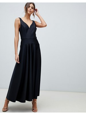 Coast plunging hot fix maxi gown