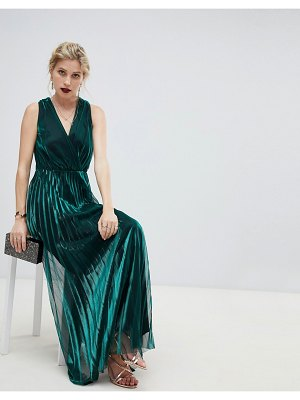 Coast shimmer wrap maxi dress