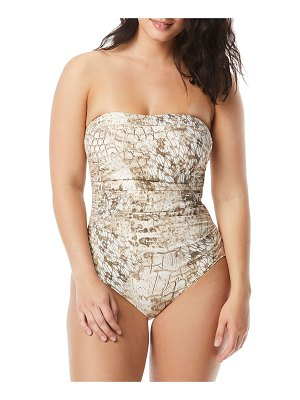 Coco Contours by Coco Reef Embellished Printed Bandeau One-Piece Swimsuit