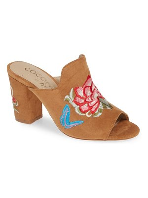 COCONUTS BY MATISSE frill embroidered mule