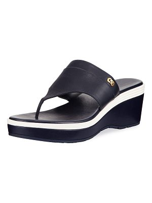 Cole Haan Cecily Grand Colorblock Wedge Thong Sandal