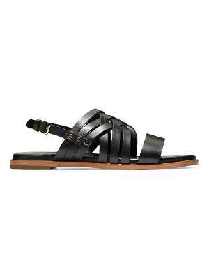 Cole Haan francie multi-strap flat leather sandals