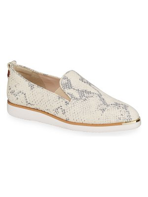 Cole Haan Grand Ambition Snake-Print Slip-On Loafers