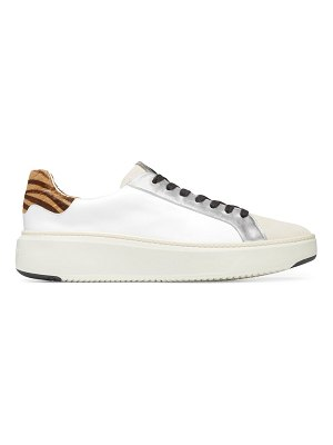 Cole Haan grandpro cloudfeel topspin leather & faux calf hair sneakers