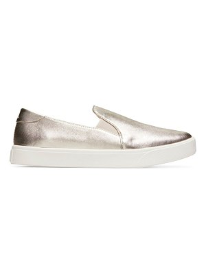 Cole Haan grandpro metallic slip-on leather sneakers