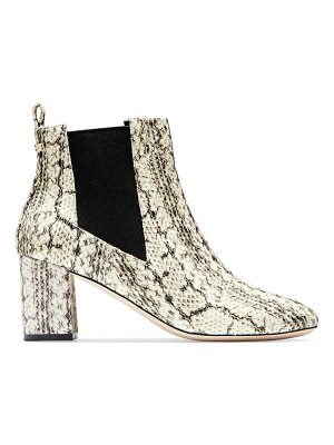 Cole Haan nitasha python-embossed leather ankle boots