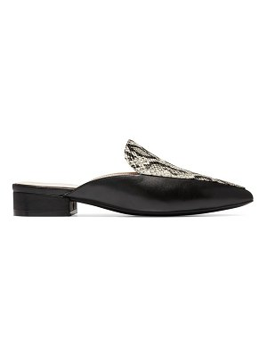 Cole Haan piper python-embossed leather mules