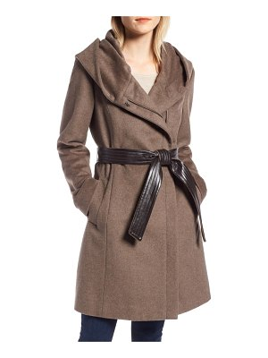 Cole Haan Signature cole haan belted asymmetrical wool coat