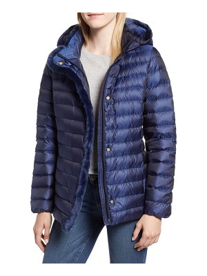 Cole Haan Signature quilted down jacket with faux fur trim
