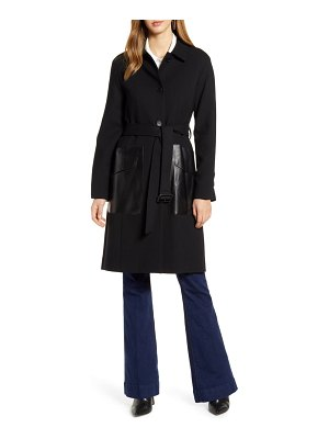 Cole Haan Signature wool blend & leather coat