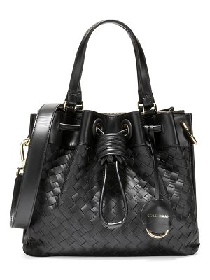 Cole Haan small woven leather tote
